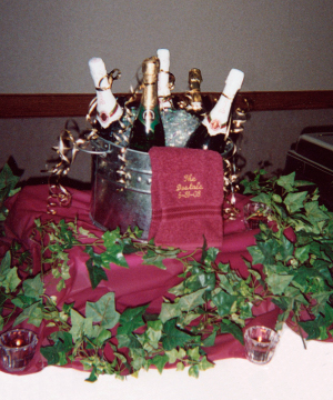 Champaign display by Joanie's Catering of Hutchinson, MN